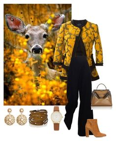 """""""autumn colours"""" by giulia-sicilia ❤ liked on Polyvore featuring Lanvin, Gianvito Rossi, Fendi, Kate Spade, Sif Jakobs Jewellery and Brooks Brothers"""