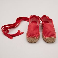 Espadrille with Laces – Raspberry - SHOES - SHOP BY PRODUCT - BABY. From Pepa & Co.