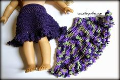 Free Crochet Pattern ~Doll Skirt http://www.niftynnifer.com/2015/04/free-crochet-pattern-dollys-spring-time.html