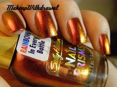 Sally Hansen Amber Ruby- the most autumnal polish ever, I think...it's glorious!