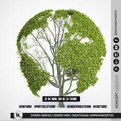 Hoy es el Día internacional de la tierra, seamos conscientes de la necesidad de proteger y conservar el medio ambiente. Depende de nosotros... y es la mejor herencia que podemos dejar. Cuidar de nuestro planeta es cosa de todos. ¡Vamos a poner nuestro granito de arena! #tierra #diadelatierra #earthday #protege #conserva #madretierra #22abril #22april #earth #vida #arbol #three #life #medioambiente #cambioclimatico #konceptcreativo #locazosdeldiseño #diseñograficobarcelona #diseñografico…
