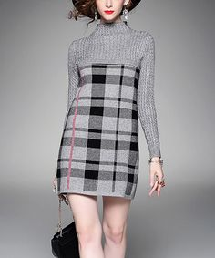 Look what I found on #zulily! Gray Plaid Dress #zulilyfinds