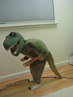 This was the original inspiration for my t-rex halloween costume - the instructions for making the papier maché head are fantastic. Credit: wrgtphotos on flickr