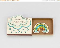 Cute Fun Encouragement Card Matchbox/ Gift box / by shop3xu