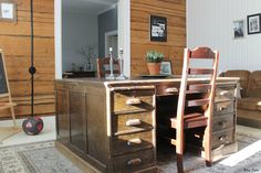Old Desk in the Library Room. Pic by Mrs Sinn Blog.