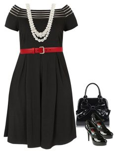"""""""Boat neck city chic plus size"""" by sara-mcmillen on Polyvore featuring Disney, Anne Klein and Gucci"""