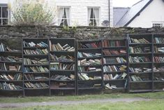 """The """"Honesty Bookshop"""" in Hay-on-Wye (photograph by Zach Beauvais) Outdoor Shelves, Beautiful Library, Little Free Libraries, Reasons To Live, Library Books, Free Library, Cardiff, Book Lovers, Places To Visit"""