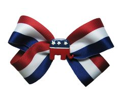 For the Littlest Republican A GOP Hair Bow by APinkLemonadeDesigns, via Etsy.