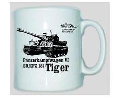 Tasse Tiger 501 Panzerkampfwagen VI SD.KFZ 181 / mehr Infos auf: www.Guntia-Militaria-Shop.de