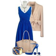 Bold in Blue and Taupe