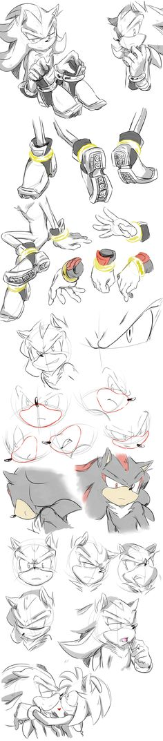 Shadow sketches by AimyNeko on DeviantArt