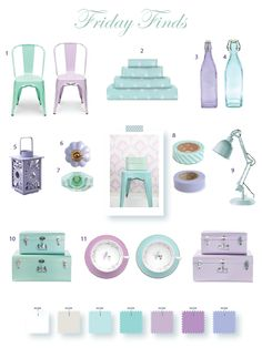 Lavender & Mint home accessories; i'm obsessed with this duo right now!