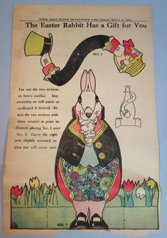 Brooklyn Daily Eagle - Mechanical Easter Rabbit Paper Doll - 1929   eBay