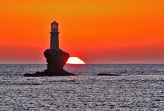 Lighthouse, Andros, Greece