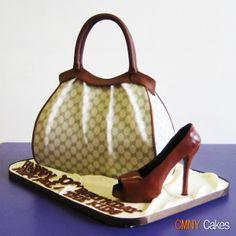 designer purse cakes photos | Designer Handbag Cake with Matching Pump | Flickr - Photo Sharing!