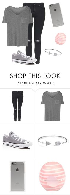 """""""Grayish"""" by twaayy ❤ liked on Polyvore featuring Topshop, T By Alexander Wang, Converse, Bling Jewelry, Incase and River Island"""