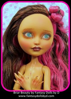 Briar Beauty Ever After High Doll gets a repaint- watch how it was done. Realistic Face Drawing, Ever After Dolls, Monster High Custom, Plastic Doll, Doll Painting, Ever After High, Disney Dolls, Doll Repaint, Monster High Dolls