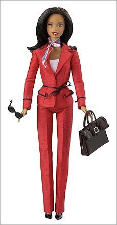 2004  Barbie for President? For the 2004 election, Mattel released Presidential Candidate Barbie, which came in both black and white models.