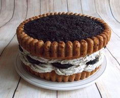 """Big cookie cake aux """"oréo"""" .   { Sans gluten - Sans sucre raffiné }"""