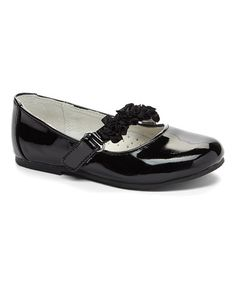 Love this Patent Black Floral Mary Jane on #zulily! #zulilyfinds