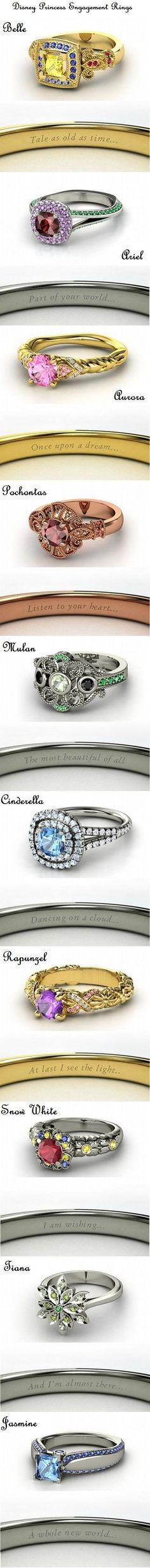 Disney Princess Engagement Rings <3