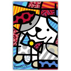 PAMESA BY BRITTO | DOG | CERAMICPamesa by BRITTO is an exclusive line of ceramic tiles featuring the vibrant and colorful illustrations of world renowned artist Romero Britto. BRITTO Dog is  available in 34 CM by 50 CM tiles. #ParmesaByBritto  #Britto #MOTW
