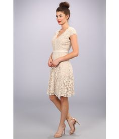 Adrianna Papell Illusion Inset Fit & Flare Oyster - Zappos.com Free Shipping BOTH Ways