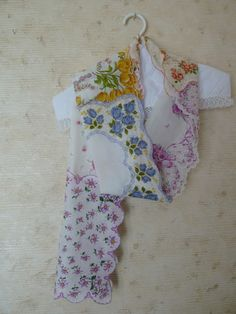 Sew a Vintage Handkerchief Scarf. Maybe add a backing to make it stronger and warmer.