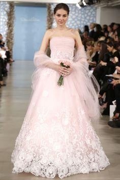 tendencia vestido de noiva rosa