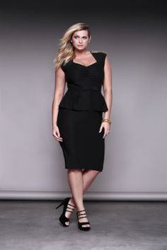 This little black {peplum} dress is classic & sexy all at once. Obsessed.