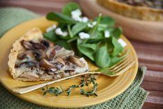 wild mushroom and fontina tart