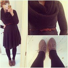 Winter dress. Plus love the color