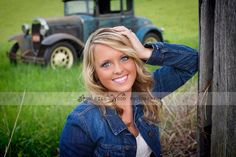 Senior session Ashleigh Wood Photography  Vintage car Farm