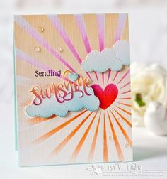 Sending Sunshine Card by Betsy Veldman for Papertrey Ink (May 2016)