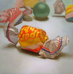 Margaret Morrison Painting of Bubble Gum Candy - If It's Hip, It's Here