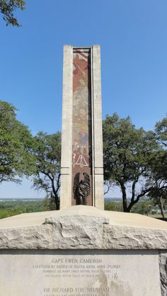 Monument Hill State Park and Kreische Brewery State Historic Sites in La Grange, TX is home to the crypt for the fallen Texas heroes of the Dawson Massacre and the Mier Expedition. Just behind the crypt is the guardian angel statue and monument to prominently mark the grave.