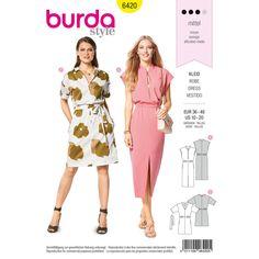 B... Burda Ladies Easy Sewing Pattern 6414 Sleeveless Dresses Free UK P/&P