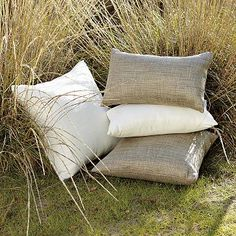I love the Solid Outdoor Woven Pillows on westelm.com
