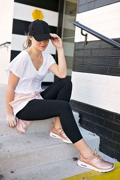 Rose gold nike sneakers | fashionable tennis shoes || A Lonestar State of Southern