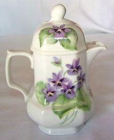 Teapot with .violets