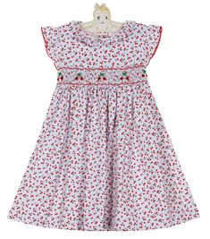 e35a4bcd4 NEW Petit Bebe by Anavini Cotton Knit Cherry Print Smocked Dress $50.00 Smock  Dress, Toddler