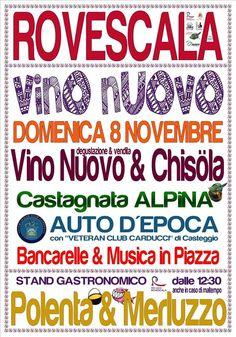 Festa del Vino Nuovo 8 Novembre Rovescala (PV)