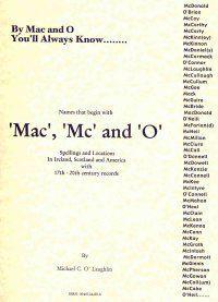 Irish Roots - Mac, Mc, and O Names in Ireland, Scotland, & America