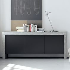 Kobe 3 Door Sideboard Concrete Room