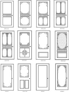"""screen door designs -  can use this as """"samples of"""" to fix up (with bits and pieces of molding etc) one of those cheap doors"""