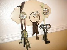 Antique door knobs with keys