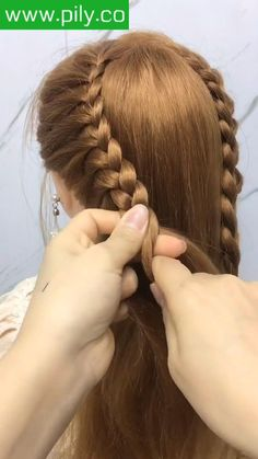 Braided Hairstyles For Long Hair, Hairstyles For Girls, Cute Everyday Hairstyles, Hairdo For Long Hair, Braids For Short Hair, Braid Hairstyles, Pixie Hairstyles, Cute Hairstyles, Hair Videos