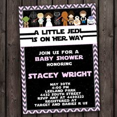Hey, I found this really awesome Etsy listing at https://www.etsy.com/listing/287204939/girl-star-wars-baby-shower-invitation