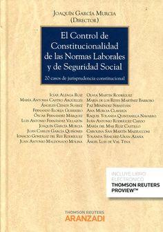Control de constitucionalidad de las normas laborales y de seguridad social : 20 casos de jurisprudencia constitucional / Joaquín García Murcia (director) ; Icíar Alzaga Ruiz ... [et al.]