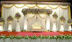 about marriage marriage decoration photos 2013 marriage stage decoration ideas 2014 is part of Indian wedding stage - Wedding Stage Decorations, Stage Decoration Photos, Simple Stage Decorations, Engagement Stage Decoration, Reception Stage Decor, Wedding Stage Backdrop, Wedding Stage Design, Marriage Decoration, Wedding Mandap